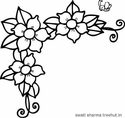 425x400 Easy Flower Coloring Pages