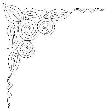 459x460 Swirl Flower Frame Corner Sweet Dreams Quilt Studio