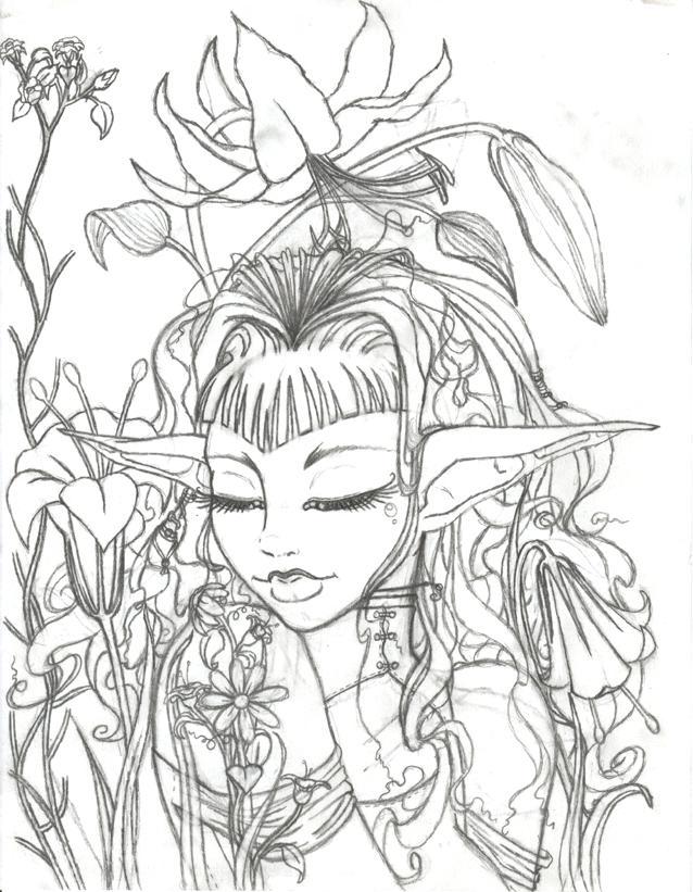 638x821 Flower Garden Sketch Flower Garden Sketch By Flower Garden Pencil