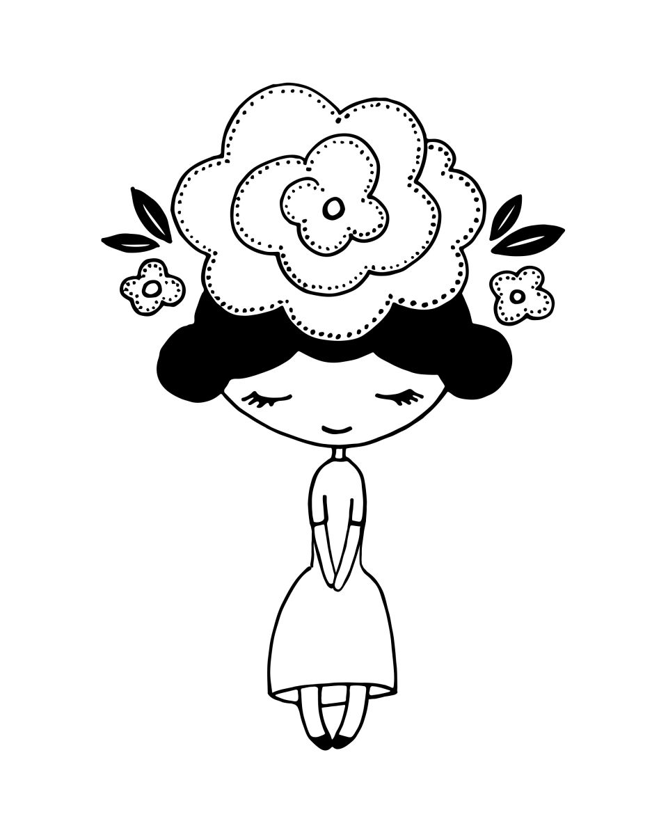 Flower Girl Drawing At Getdrawings Free For Personal Use