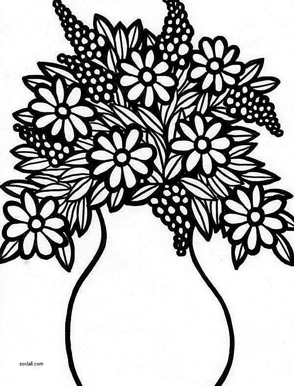 600x787 Lovely Drawing Of A Flower Vase