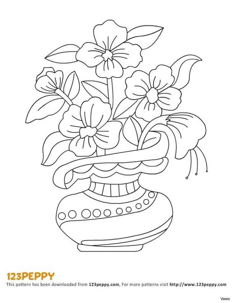785x1024 Stock Vector Drawing Sketch Of Vase With Flowers Hand Draw