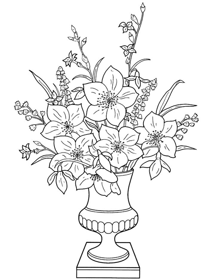 720x932 Flower Vase Drawings Beautiful Flower Vase