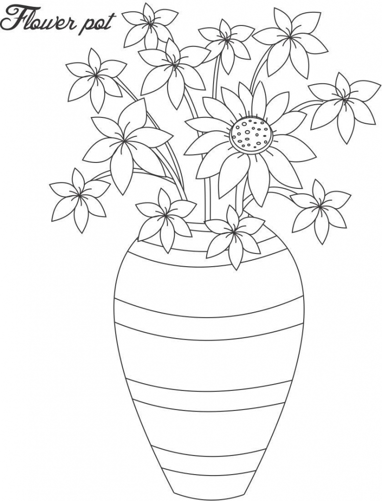 780x1024 Flower Vase For Easy Drawing Easy Drawing Of Flower Vase