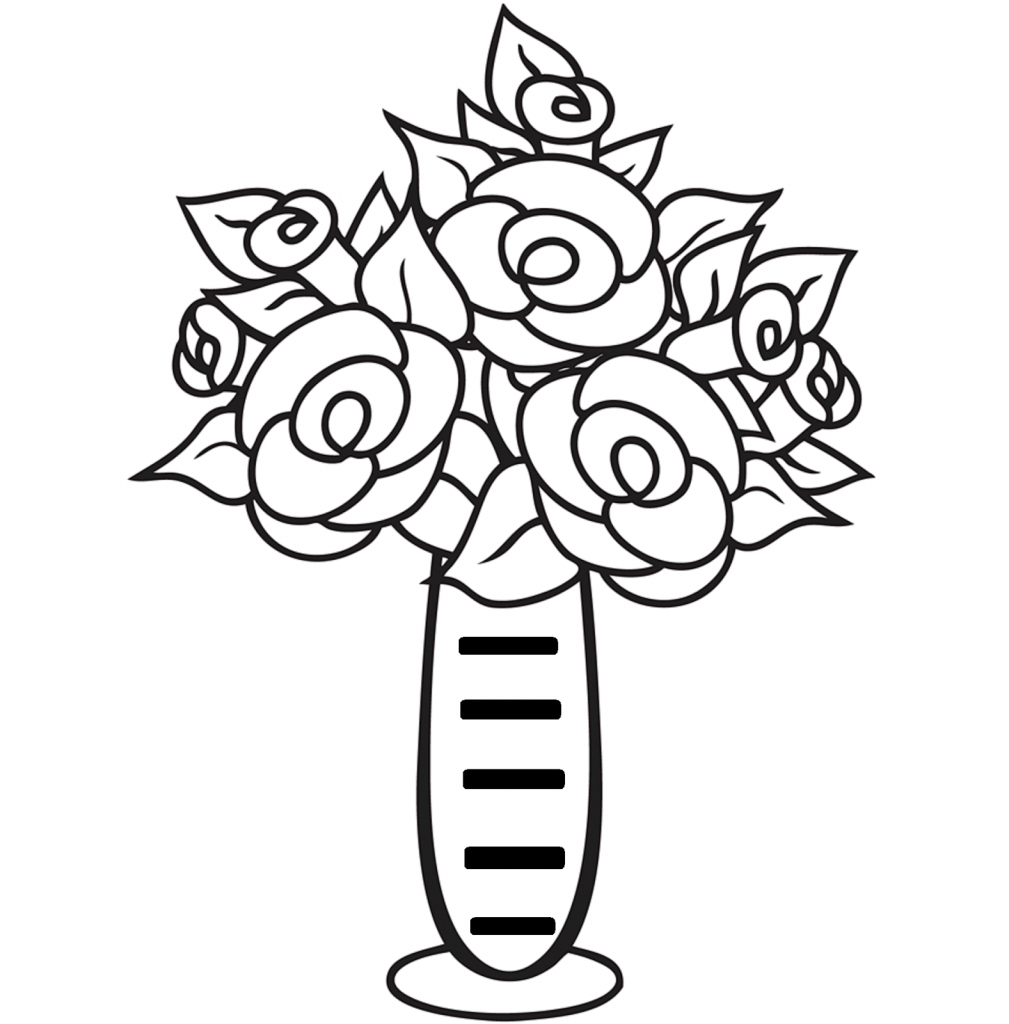 1009x1024 Flower With Vase Drawing In Easy Flower Vase Drawing Images