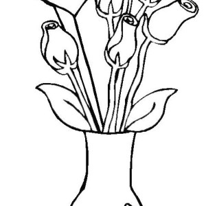 300x300 Decorative Flower Vase Coloring Page Coloring Sky