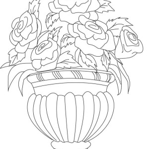 300x300 Drawing Flower Vase Coloring Page Coloring Sky