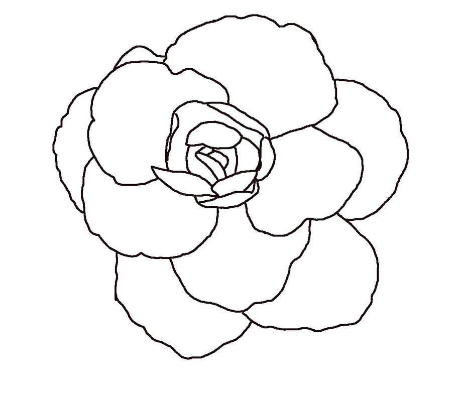Line Art Flower Drawing : Flower line drawing clip art free at getdrawings