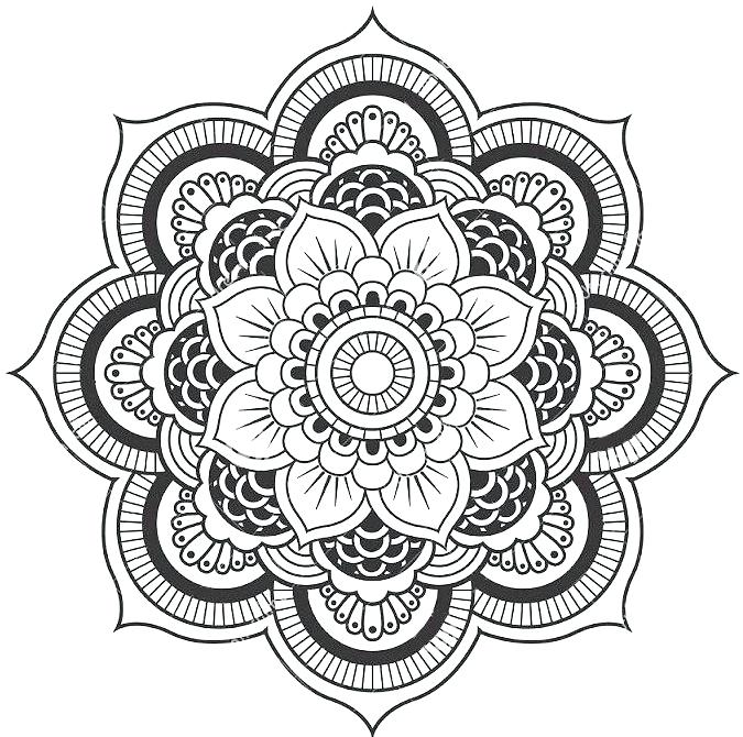 675x670 Lotus Flower Coloring Page Lotus Flower Mandala Coloring Pages
