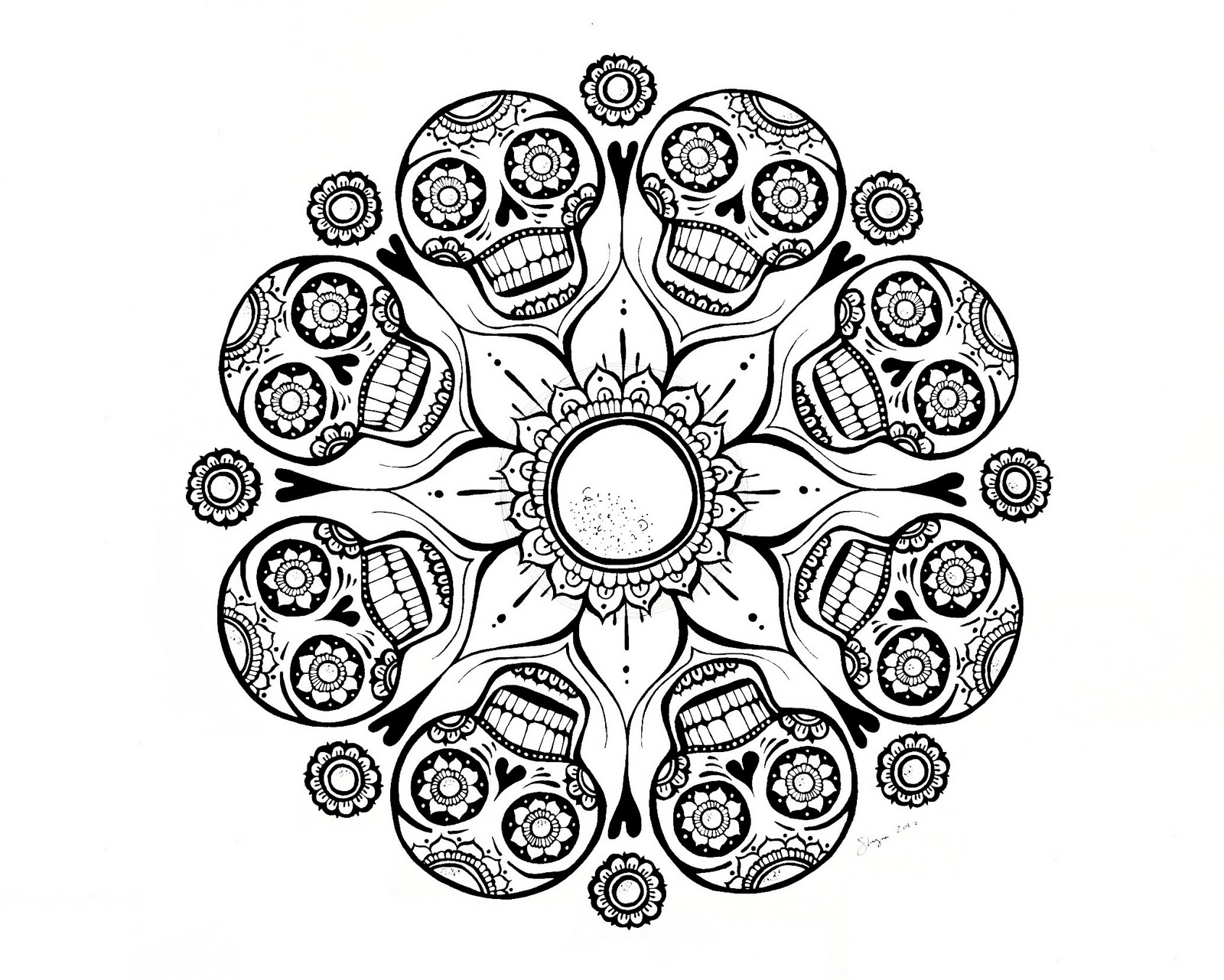 1600x1281 Skull Mandala Coloring Pages Am Selling Pdf Downloads In My Etsy