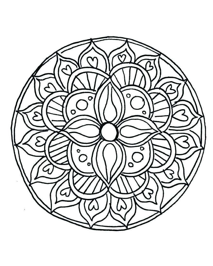 Flower Mandala Drawing At Getdrawings Com Free For Personal Use