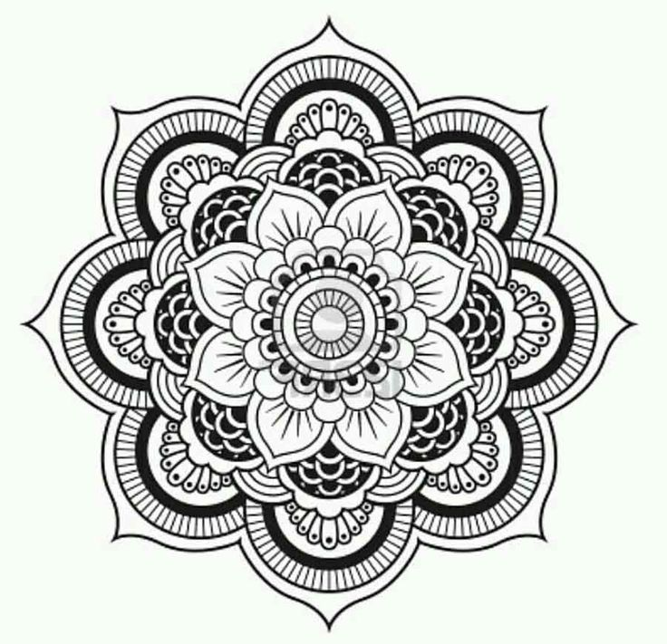 736x711 Lotus Flower Mandala Coloring Pages Only Color