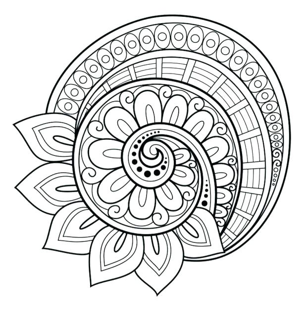 618x632 Flower Mandala Coloring Pages Flower Mandala Coloring Page Free