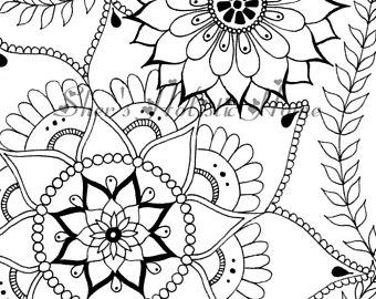 340x270 Flower Mandala Mandala Colouring Mandala Drawing Flower