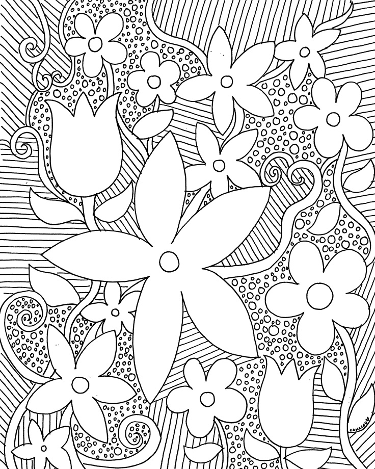 Flower Patterns Drawing