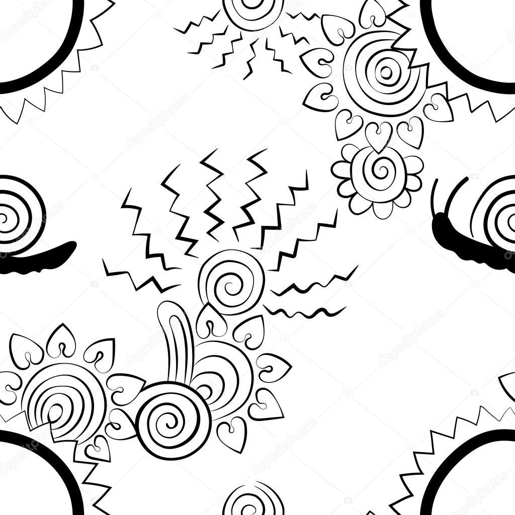 1024x1024 Hearts, Flower, Floral , Zigzag Lines, Creative Design, Snail