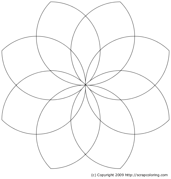 600x630 flower petal coloring pages flower petal template