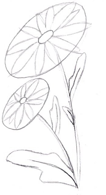 348x637 How To Draw A Flower