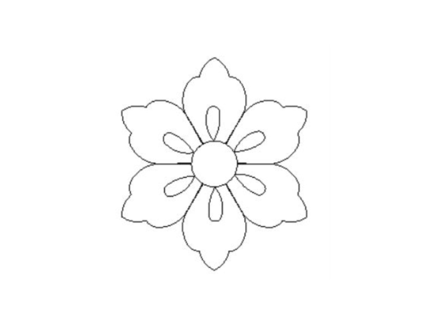 853x640 Six Petal Flower