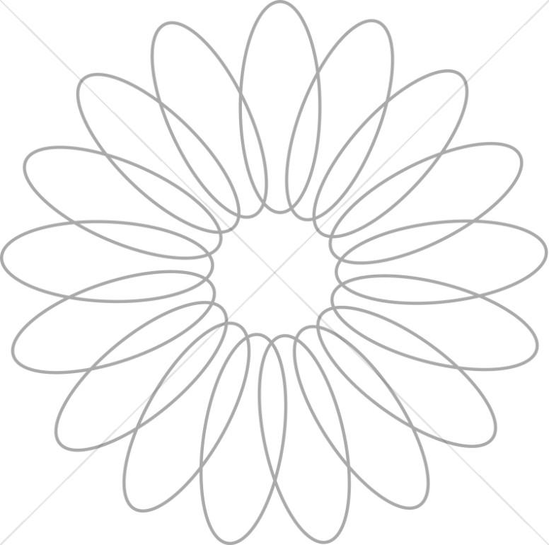 776x770 Spiral Flower Petal Design Church Flower Clipart