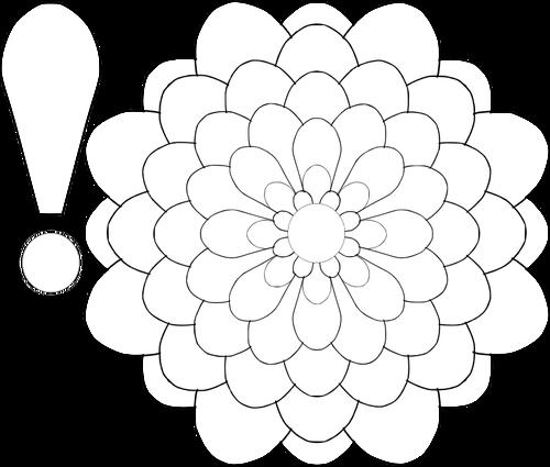 500x425 Vector Illustration Of Bustling Flower For Color Book Public