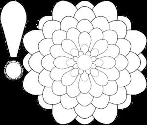 300x255 5594 Free Vector Flower Line Drawing Public Domain Vectors
