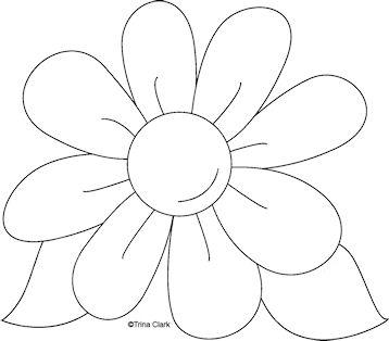 358x314 8 petal flower clipart