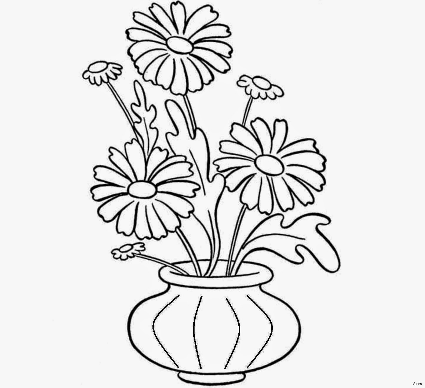 1444x1319 Simple Flower Pots Drawing How To Draw Vase Flowerh Vases Drawings