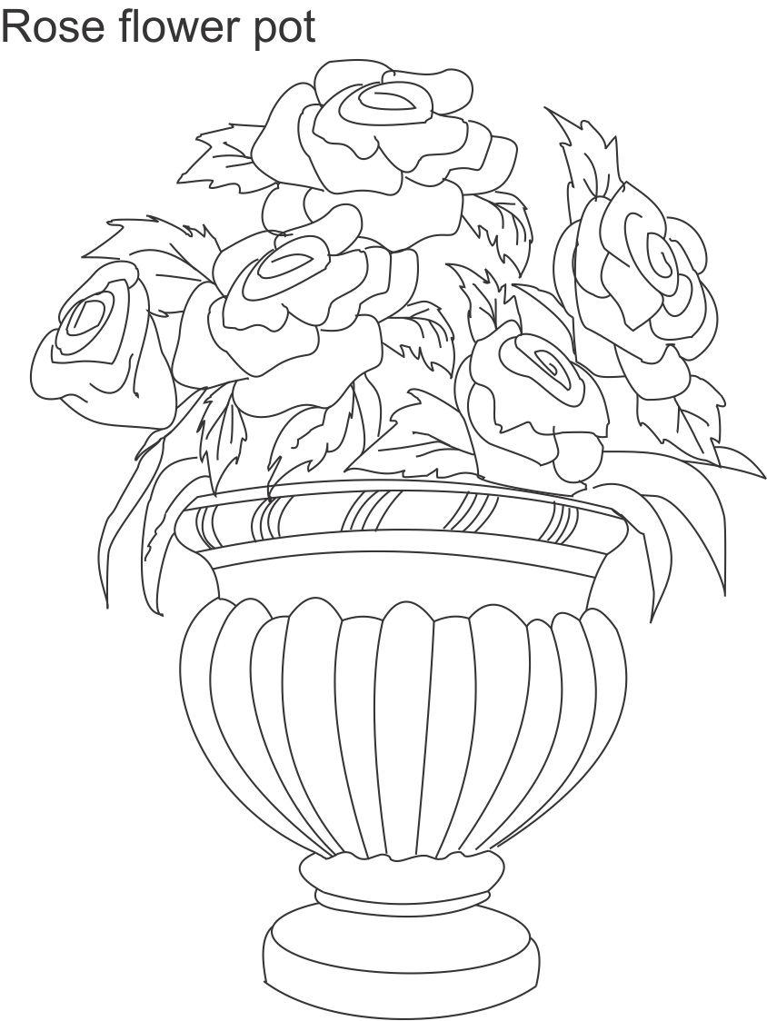 Flower Pot Drawing At Getdrawings Com Free For Personal Use Flower