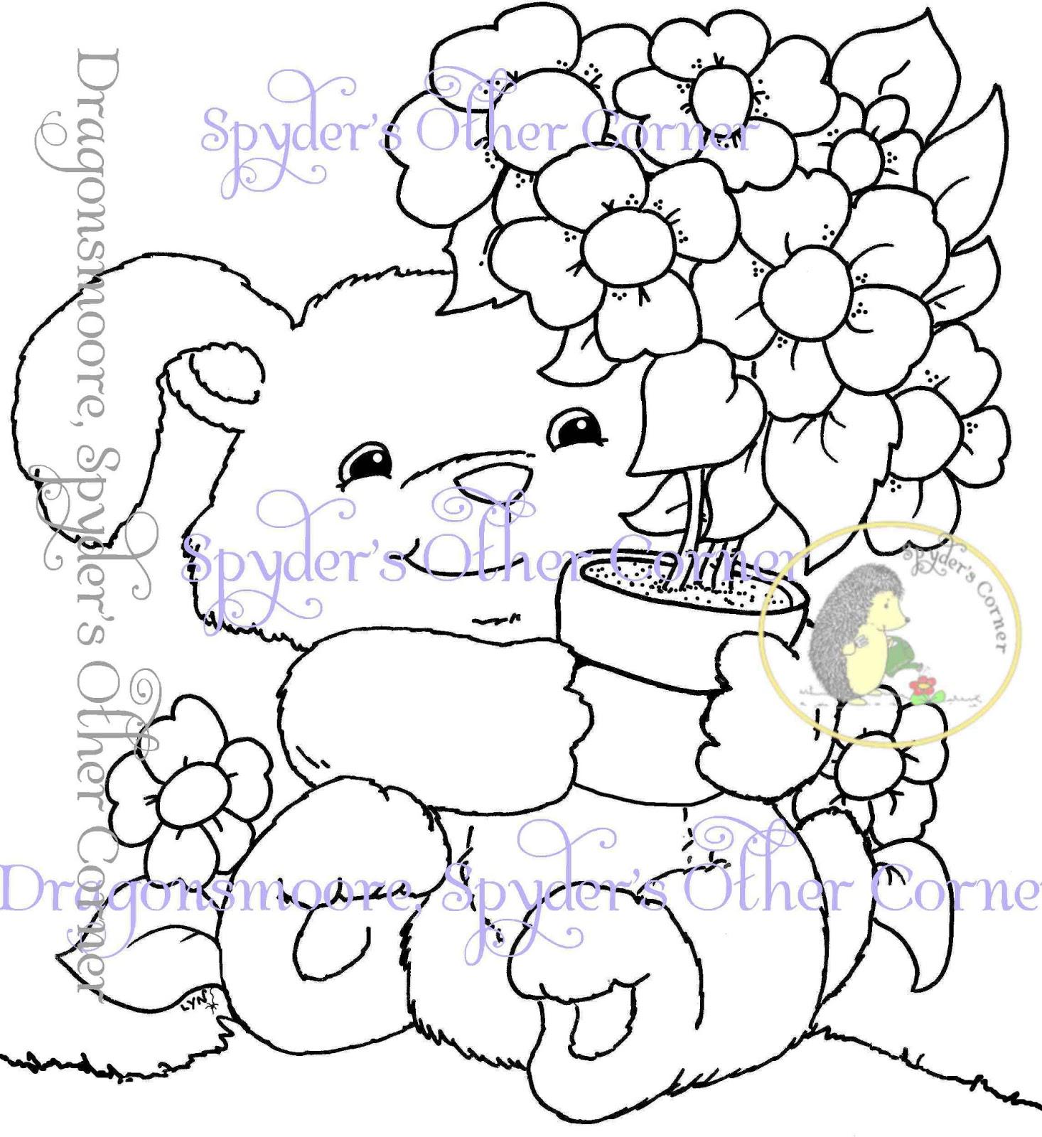 1466x1600 Dragonsmoore, Digital Stamps, Spyder's Other Corner Fluffy Bunny