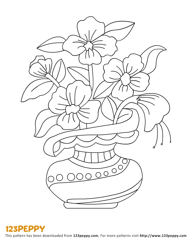 Flower Pots Drawing At Getdrawings Com Free For Personal Use