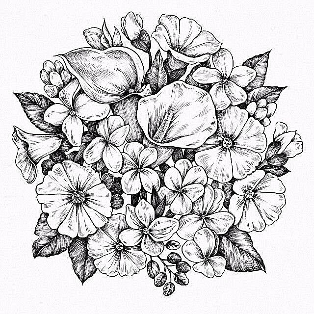 Flower Power Drawing at GetDrawings | Free download