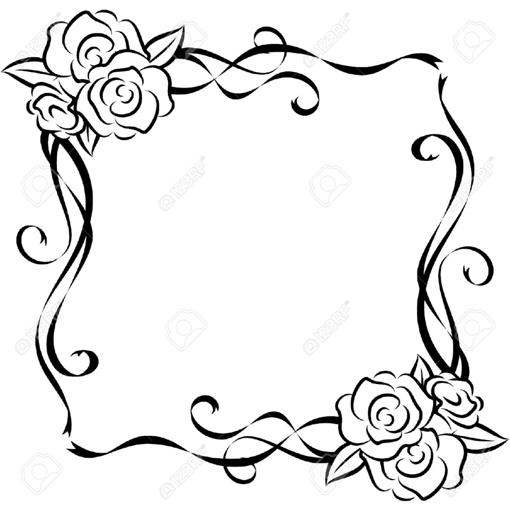 1024x1024 Art Beautiful Flower Drawing Coloring Pages Flower Simple
