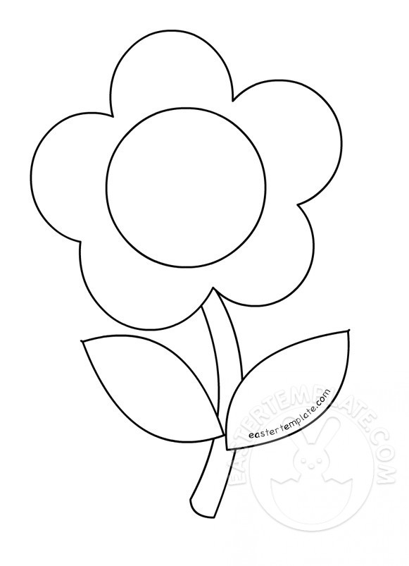 581x803 Flower Stem Coloring Page Easter Template