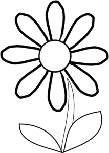 213x299 White Daisy With Stem Clip Art