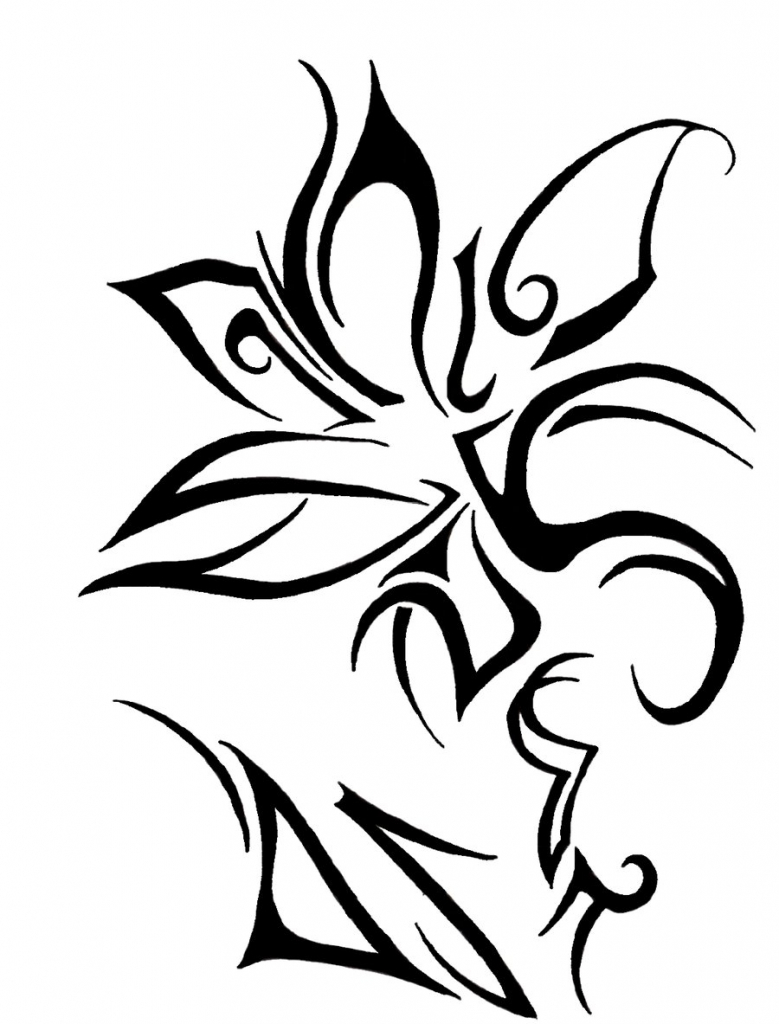 Flower Tribal Drawing At Getdrawings Free For Personal Use