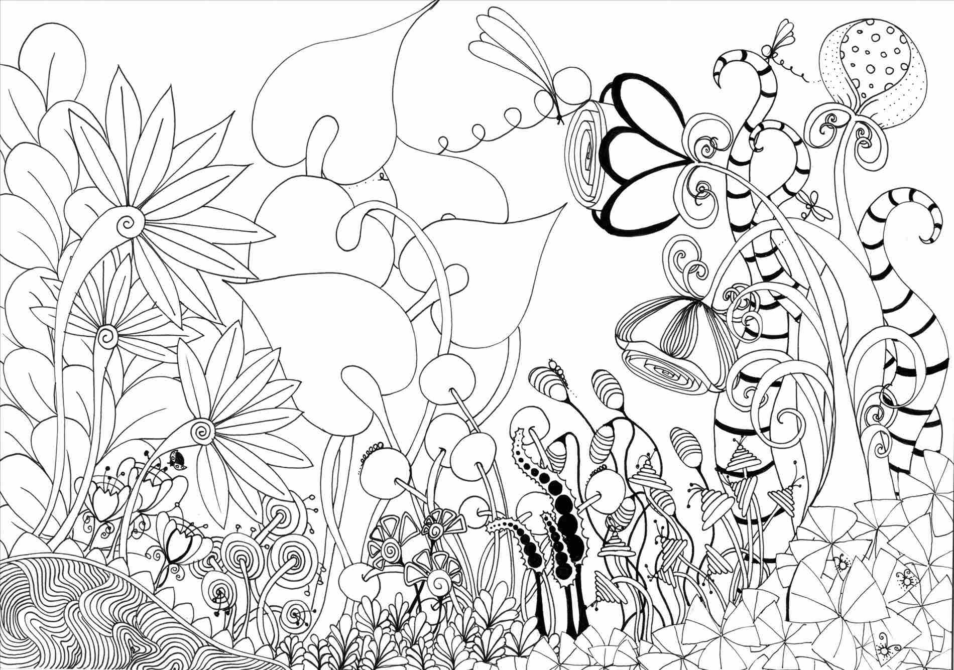 1900x1335 How Garden Drawing Easy To Draw A Cartoon Flower Free U Tutorial