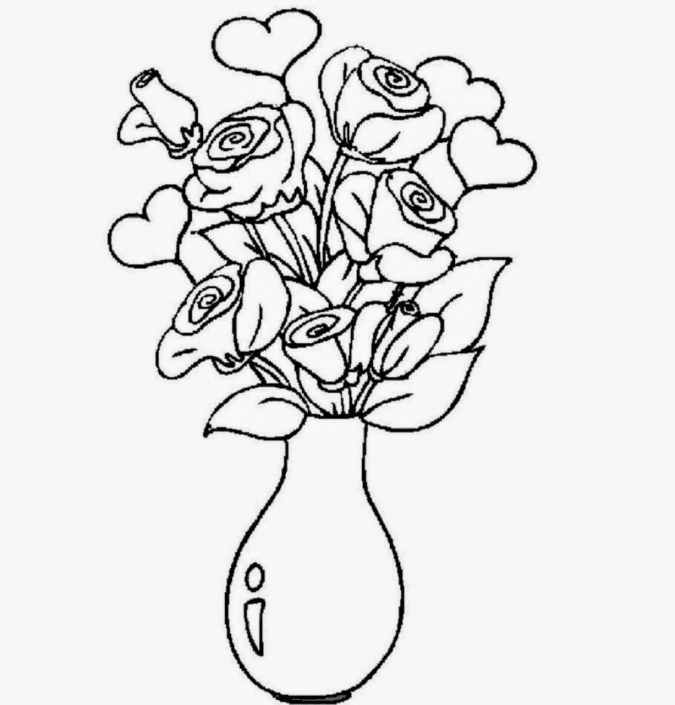 981x1024 How To Draw A Beautiful Flower Vase
