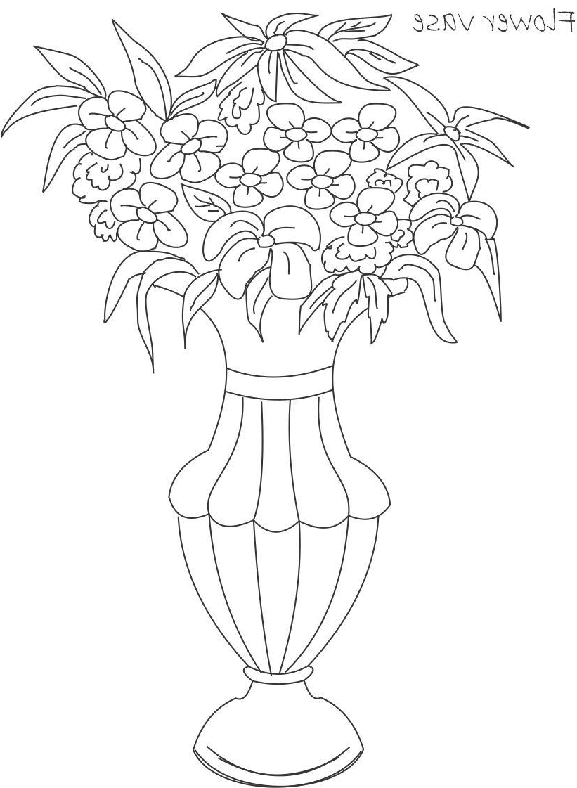 821x1121 How To Make A Flower Vase Drawing