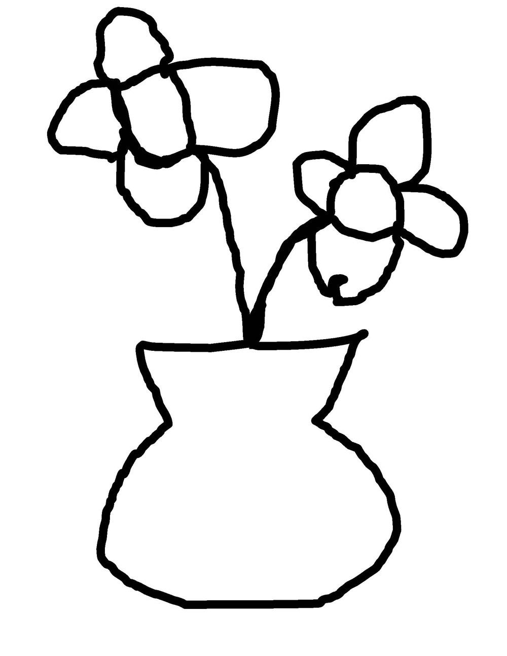 1000x1294 Colorings Bean Mosaic Flower Vase Drawing