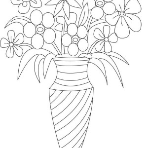 300x300 Vase With Flowers Drawings For Kids