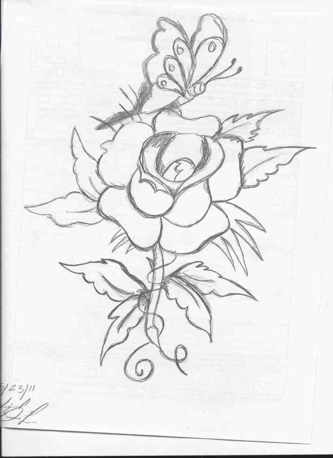 1061x1459 Flowers Drawings