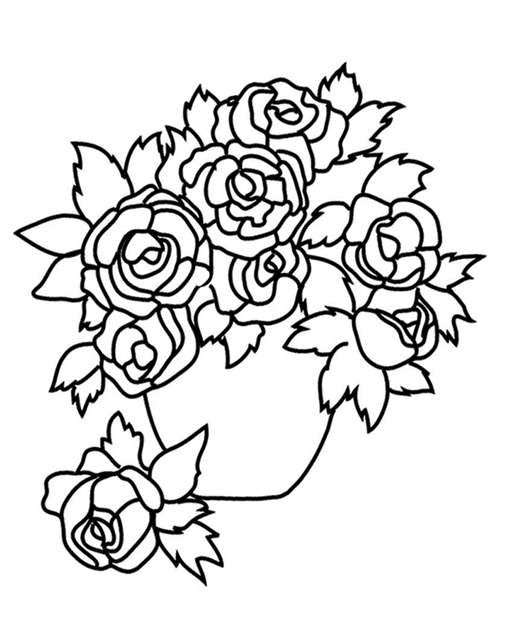 Flower vase drawing at getdrawings free for personal use 1004x1222 flower coloring pages izmirmasajfo Choice Image