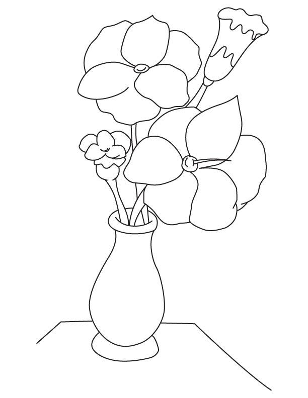 612x792 Gladiolus Flower Vase Coloring Page Download Free