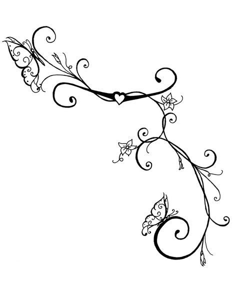 Flower Vine Drawing