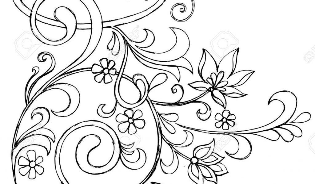 1024x600 Flower Vine Drawings Drawn Vine Doodle