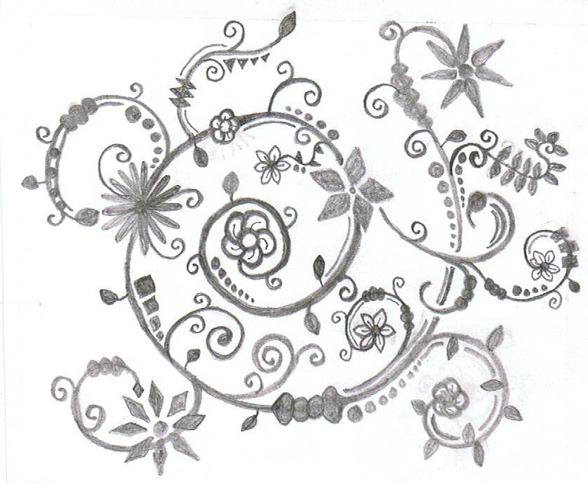 835x687 Flower Vine V2 By Dancingpiglet