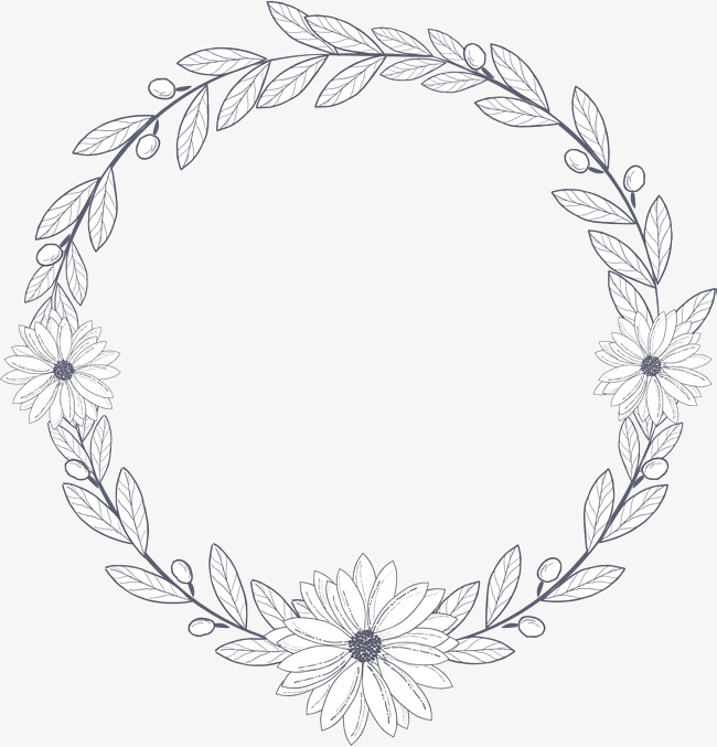 650x677 Hand Painted Small Daisy Flower Rattan Border, Vector Png, Summer