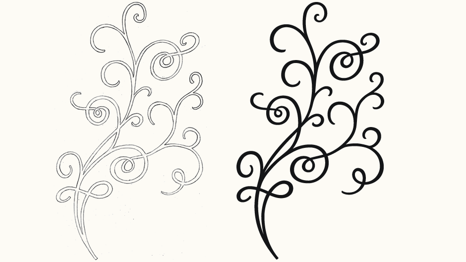 Flower Vine Line Drawing : Flower vine drawing at getdrawings free for personal