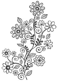 236x328 Vine With Flowers. Replace One Flower With Ohm Symbol And Another